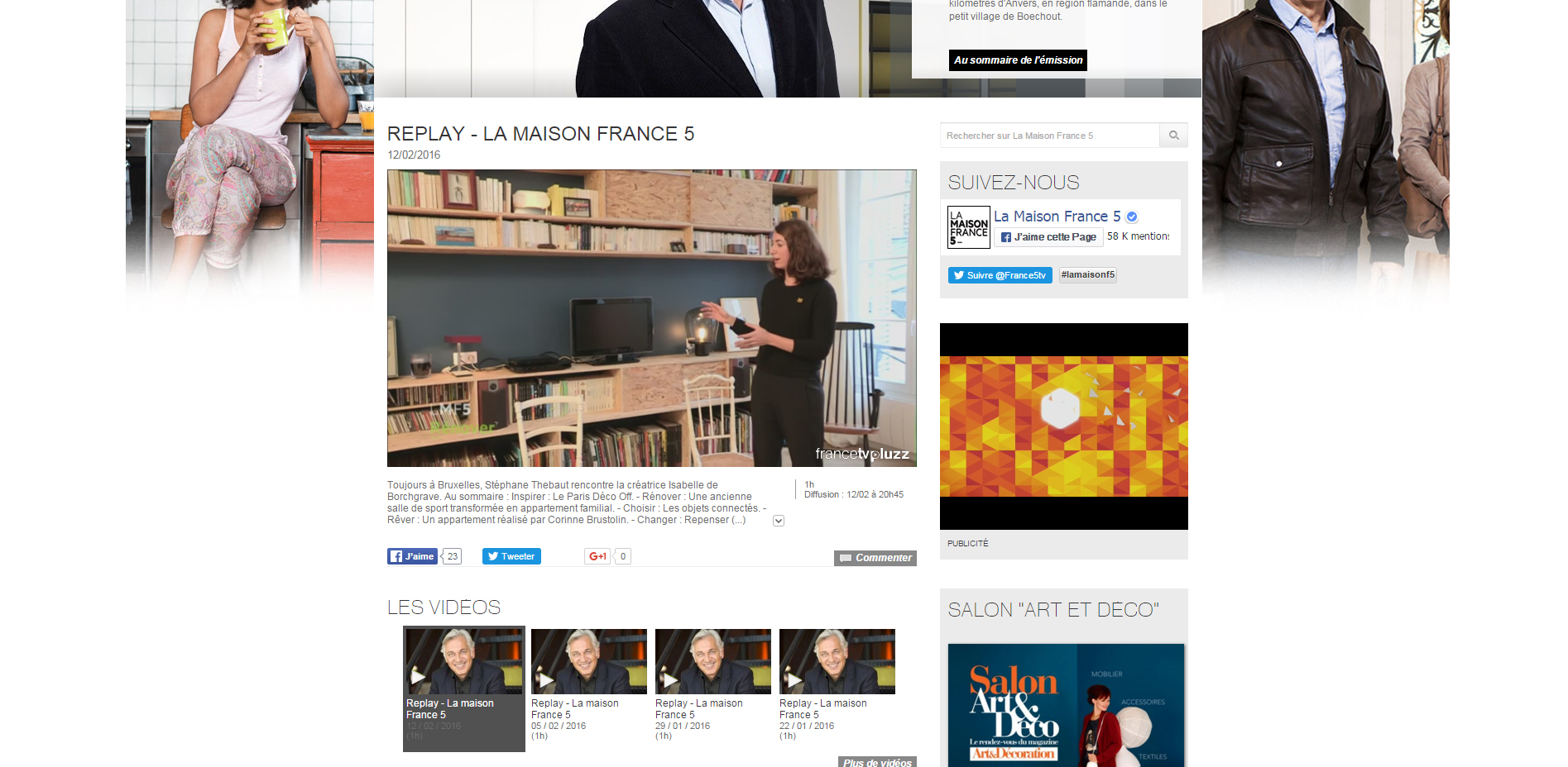 Maison france 5 julie alazard for Animateur maison france 5